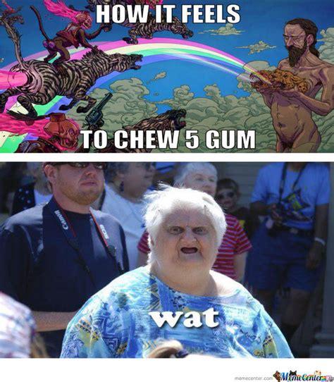 feels  chew  gum  konata meme center