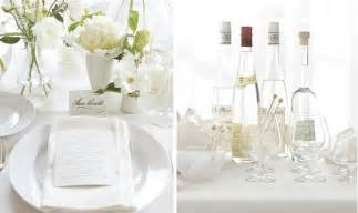 White Table Settings Monochromatic Tablescapes The Bright Ideas