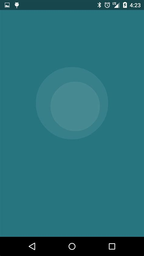animation for layout android android concentric circles scale animation stack overflow