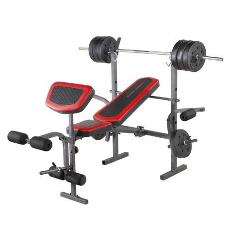 professional weight bench set weider 15999 pro 256 combo weight bench sears outlet