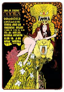 60 s pop posters past tense the doors poster by bob masse for concerts in
