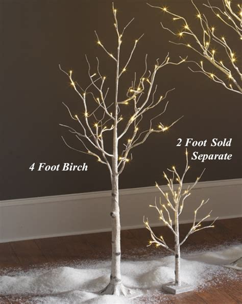 lighted trees for indoors lighted white birch tree 4 48 warm white led s