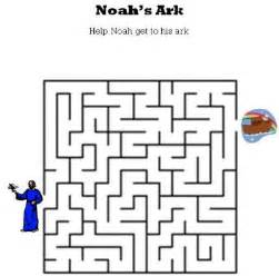 kids bible worksheets free printable noah s ark maze