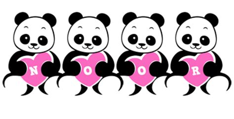 Name Style Design | noor logo create custom noor logo love panda style