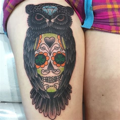 tattoo owl mexican 50 owl and skull tattoo ideas for your first ink