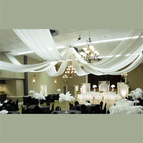 ceiling draping kit 8 panel sheer voile 30ft ceiling draping kit 62 feet wide