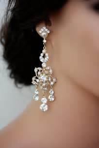 large chandelier earrings gold chandelier bridal earrings gold wedding by lulusplendor