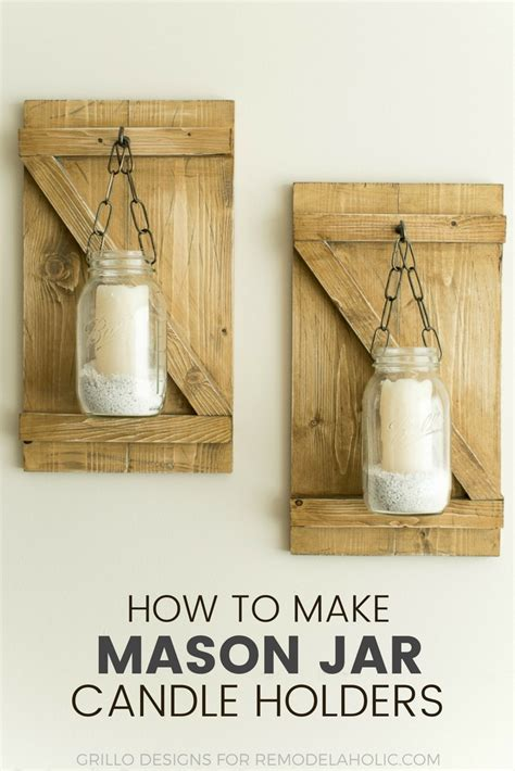 how to make a mason jar l how to make hanging mason jar candle holders grillo designs