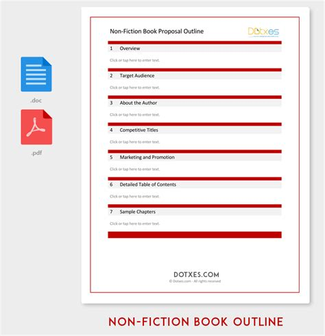 book outline template 17 sles exles and formats