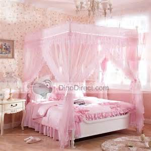 Little Girls Princess Bedroom Ideas qirtie romantic pink household double ruffle 4 poster bed