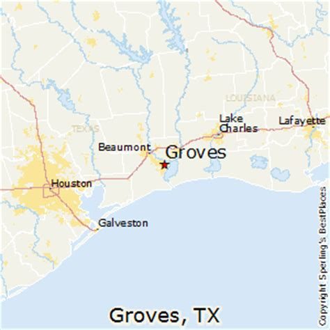 groves texas map best places to live in groves texas