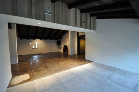 refinishing concrete floors of an architect