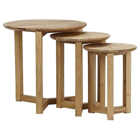 Freedom Side Table Stockholm Nest Of Tables Oak From Freedom Furniture Tables Desks Nesting