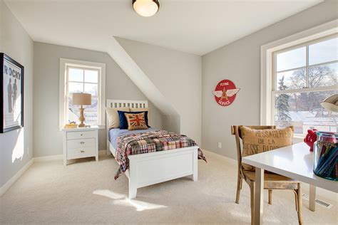 lovely Best Color For Girls Room #1: Farmhouse-Style-Boy-Bedroom-With-Beige-Color-carpet-Dwellingdecor.jpg