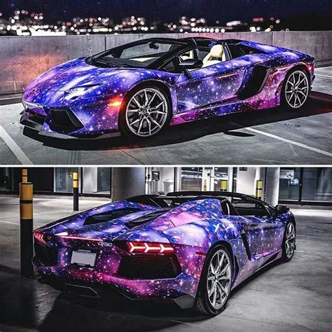 galaxy car paint lamborghini aventador roadster galaxy fancy vehicles