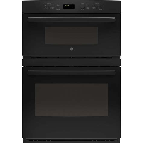 ge built in microwave ge 30 in electric wall oven with built in microwave in black jt3800dhbb the home depot