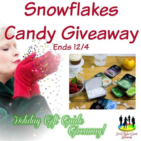 Candy Giveaway - snowflakes candy giveaway ends 12 4 the homespun chics