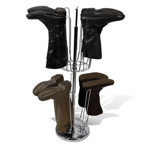 Boot Rack by The Bilevel Boot Rack Hammacher Schlemmer