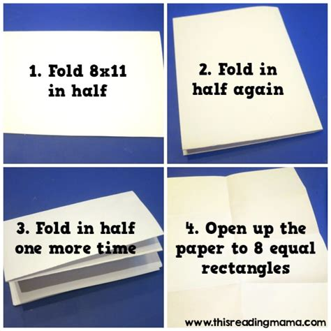 Folding Paper 8 Times - sting sight words