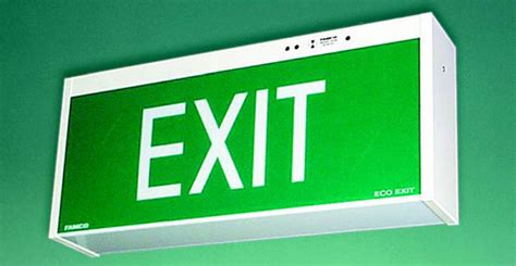 exterior emergency exit lights exit and emergency lighting striker fire electrical