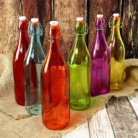 1 liter swing top bottles 1 litre coloured glass swing top bottles at barmans co uk