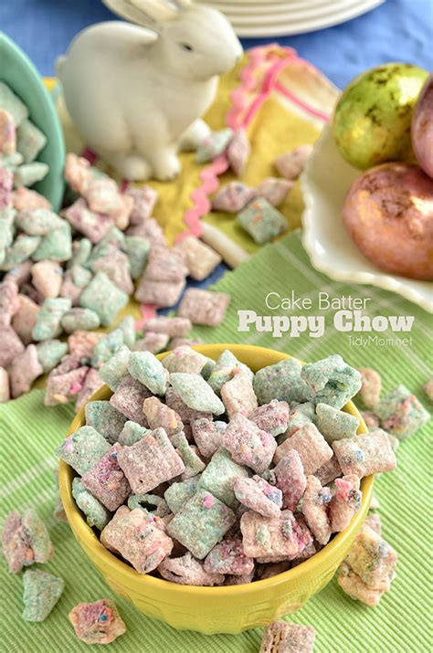 puppy chow snack recipe cake batter puppy chow recipe