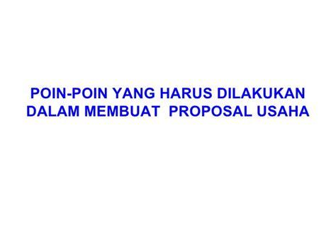 membuat proposal wirausaha menyusun proposal usaha 2011 tanpa gambar