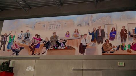 The Office Mural finale mural dunderpedia the office wiki fandom