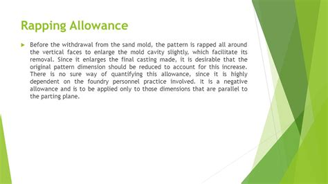 pattern allowances types types of pattern and their material pattern allowances
