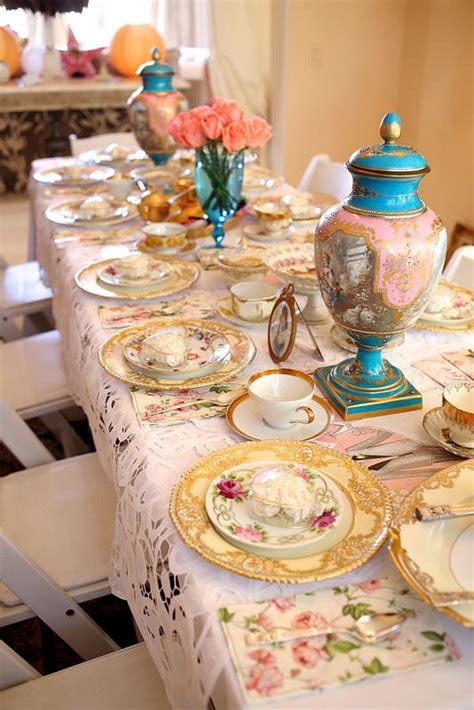 bridal shower table setup beautiful bridal shower tea table setting bridal