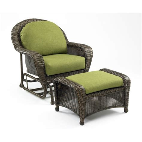 outdoor greatroom es5074 g1 balsam outdoor wicker glider chair