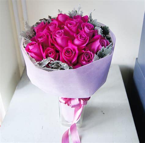 Buket Bunga Mawar Satin Vintage Pink Sentra Bunga Florist Decor Flower Shop Jakarta