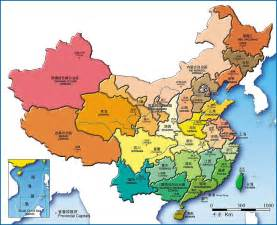 China Province Map by Pics Photos China Map China Province Map China City Map
