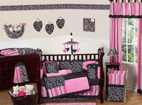 Pink Black Crib Bedding Pink And Black Boutique Baby Bedding 9 Pc Crib Set Only 189 99