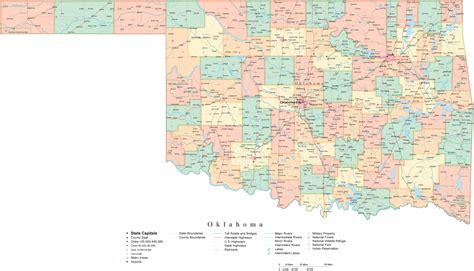 map oklahoma oklahoma map free large images