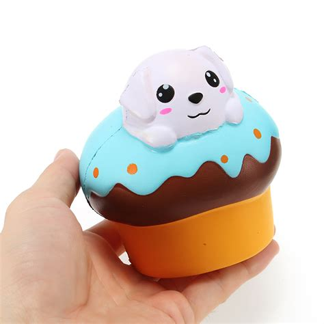 Soft And Slowrise Squishy Hotdog xinda squishy puppy puff cake 10cm rising with packaging collection gift soft