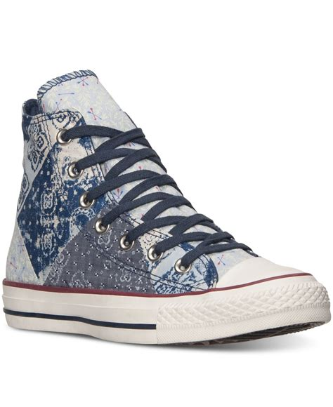Vans Oldschool America Free Casual Hight Quality converse s chuck hi bandana casual sneakers from finish line in blue lyst