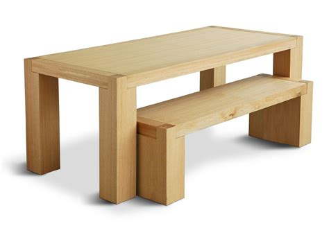 bench with dining table gus modern chunk dining table bench