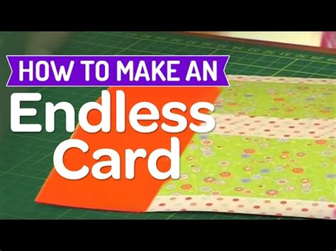 how to make endless card how to make an endless card