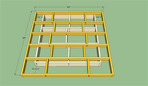 platform base bed frame platform bed frame plans howtospecialist how to build