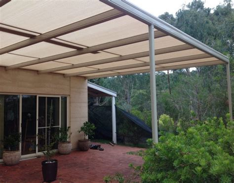 shade cloth pergola stratco outback shade cloth covered pergola adelaide