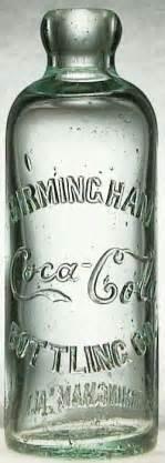 Original coke script hutch embossed on front birmingham coca cola