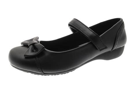 Comfortable Shoes For School by Black School Shoes Low Wedge Heel Comfort