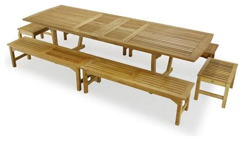 teak picnic table set modern outdoor dining tables