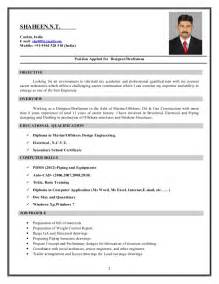 Sle Resume For by Resume For Autocad Sales Draftsman Lewesmr