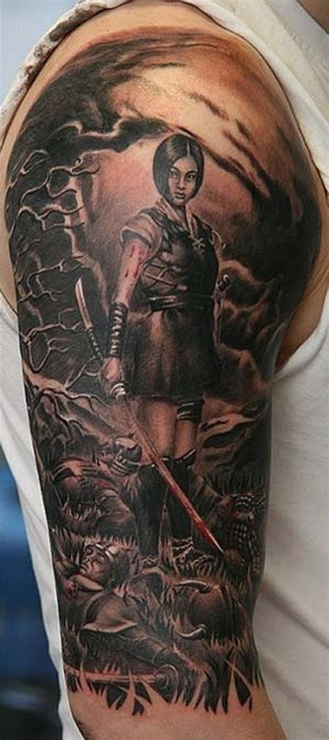 female warrior tattoo designs japanese warrior tattoos www imgkid the