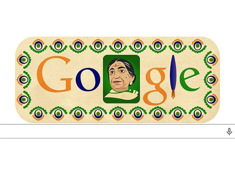 doodle for india 2014 results doodles sarojini naidu the indian nightingale