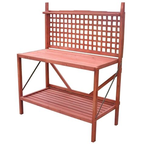 folding potting bench outdoor folding wooden potting bench garden trellis with