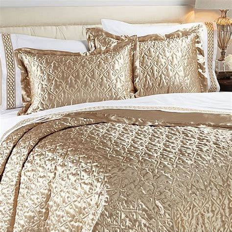gold coverlet king hutton wilkinson palazzo 3 piece satin reversible coverlet