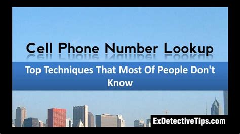 How To Lookup A Person By Cell Phone Number Cell Phone Number Lookup Top Techniques By Exdetective